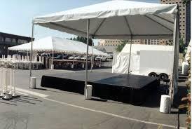 stage under tent